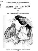 Ebook A 1975 annotated checklist of the birds of Ceylon (Sri Lanka) Epub William Watt Addison Phillips Apps Read Mobile