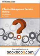 Effective Management Decision Making