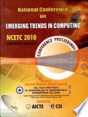 Emerging Trends In Computing Zncrtc 2010 book