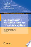 Emerging Research in Artificial Intelligence and ComputationaI Intelligence