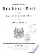 Königlich-Bayerisches Intelligenz-Blatt des Unterdonau-Kreises