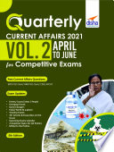 Quarterly Current Affairs Vol 2 April To June 2021 For Competitive Exams 5th Edition
