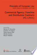 Commercial Agency  Franchise and Distribution Contracts