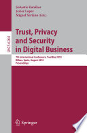 Trust  Privacy and Security in Digital Business