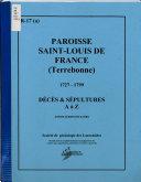 Paroisse Saint-Louis de France, Terrebonne, 1727-1799