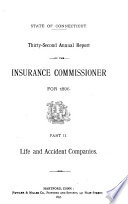 Annual Report of the Insurance Commissioner of Connecticut