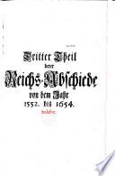 Neue und Volst  ndigere Sammlung der Reichs Abschiede
