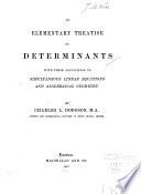 An Elementary Treatise on Determinants