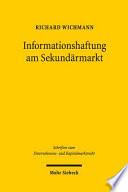 Haftung am Sekundärmarkt für fehlinformationsbedingte Anlegerschäden
