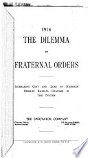 The Dilemma of Fraternal Orders Book PDF