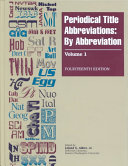 Periodical Title Abbreviations  By title