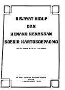 Riwayat Hidup Dan Kenang Kenangan Soegir Kartosoepadmo 20 8 1900 S D 11 12 1980