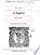 Giardino de gli epiteti  traslati    aggiunti poetici italiani  del P M F  Gio  Battista Spada di Fiorenzuola piacentino dell Ordine de  predicatori