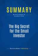download ebook summary: the big secret for the small investor pdf epub