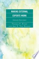 Making External Experts Work