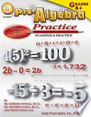 Pre Algebra Practice Book  Grades 6   12