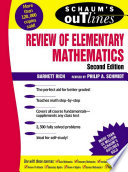 Schaum s Outline of Review of Elementary Mathematics