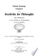 Friedrich Ueberweg's Grundriss der geschichte der philosophie ...: t. Die neuzeit. 6. aufl. 1883