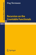 Recursion on the Countable Functionals Book PDF