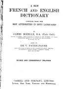 A New French and English Dictionary