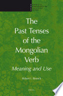 The Past Tenses of the Mongolian Verb