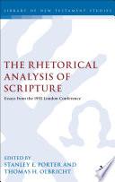 The Rhetorical Analysis of Scripture