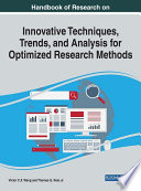 Handbook Of Research On Innovative Techniques Trends And Analysis For Optimized Research Methods