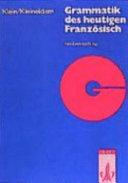 Grammatik des heutigen Franz  sisch