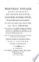 Nouveau voyage dans le Haute et Basse Égypte, la Syrie ..., en 1792-98 ...