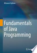 Fundamentals Of Java Programming