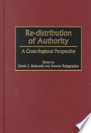 Re distribution of Authority