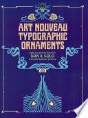 Art Nouveau Typographic Ornaments