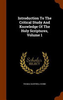 download ebook introduction to the critical study and knowledge of the holy scriptures pdf epub