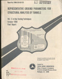Representative Ground Parameters For Structural Analysis Of Tunnels