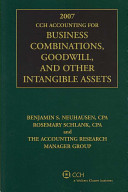 2007 CCH Accounting for Business Combinations  Goodwill  and Other Intangible Assets