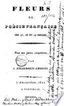 Fleurs de poésie française des 17e, 18e et 19e siècles
