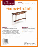 Fine Woodworking's Asian-inspired Hall Table Plan