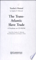 The Trans Atlantic Slave Trade