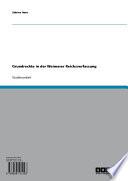 Grundrechte in der Weimarer Reichsverfassung