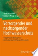 Vorsorgender Und Nachsorgender Hochwasserschutz book
