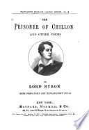 The Prisoner of Chillon and Other Poems by Lord Byron