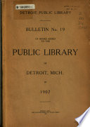 Bulletin     of Books Added to the Public Library of Detroit