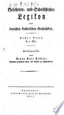 Gelehrtenlexikon der katholischen Geistlichkeit Deutschlands und der Schweiz