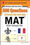 McGraw Hill Education 500 MAT Questions to Know by Test Day