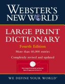 Webster s New World Large Print Dictionary