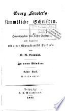 Georg Forster's sämmtliche Schrifte: bd. Briefwechsel