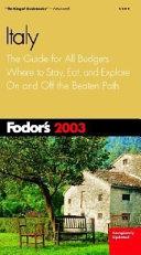 Fodor s Italy 2003