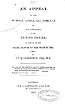 download ebook an appeal to the religion, justice, and humanity of the inhabitants of the british empire pdf epub