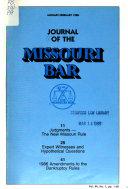 Journal of the Missouri Bar