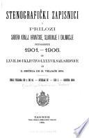 Stenografčki zapisnici i prilozi Sabora Kralj, Hrvatske, Slavonije i Dalmacije